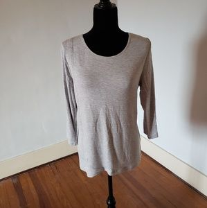 Size 1 grey Weekends by Chico's knit tunic